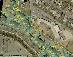 Apartment Complex's Landscape Measurements Solomon Services, Denver, CO