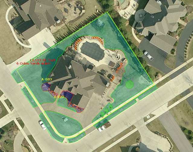 Photos Of Properties Measured Online For Landscaping Estimates