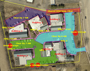 Medical office complex measured for snow removal Go iLawn